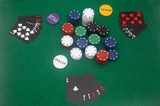 Free Poker Game Royalty Free Stock Image - 4932196