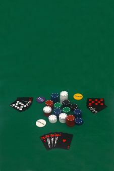 Free Poker Game Royalty Free Stock Photo - 4932255