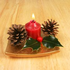 Free Christmas Candle Stock Photos - 4932293