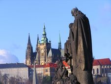 Free Prague S St. Vitus Cathedral And Charles Bridge Royalty Free Stock Photo - 4932545