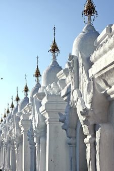 Myanmar, Mandalay: Stupas Of Kuthodaw Pagoda Stock Images