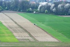 Agricultural Field From The Air Royalty Free Stock Images