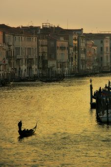 Free Venice. Sunset On Grand Canal. Stock Photo - 4935380