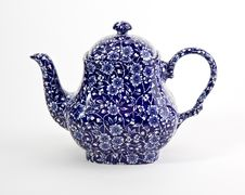 Free Fancy Blue Teapot Royalty Free Stock Image - 4936256