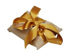 Free Golden Gift Wrappings Stock Photo - 4936430