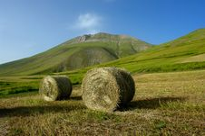 Free Hay And Mountains Royalty Free Stock Photos - 4937148