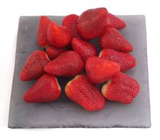 Free Red Strawberries On The Plate Royalty Free Stock Photo - 4937325