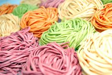 Free Colored Noodles Royalty Free Stock Photography - 4938237