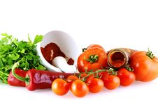 Free Raw Fresh Ingredients For Sause Stock Images - 4938404