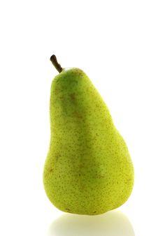 Ripe Fresh Single Pear Royalty Free Stock Image