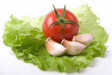 Free Garlic And Tomato Royalty Free Stock Photos - 4938618