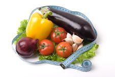 Free Vegetables With Measure Tape Stock Photos - 4938623