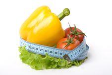 Free Paprika Tomato And Measure Tape Stock Photos - 4938633