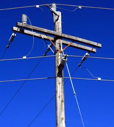 Free Electric Utility Pole. Royalty Free Stock Photos - 4938788