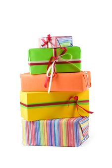 Free Colored Gift Boxes Stock Image - 4938971