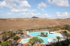 Free Pool On The Canaries Island Stock Image - 4939171