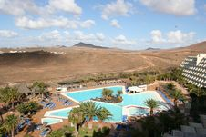 Free Hotel On The Canaries Island Stock Image - 4939231