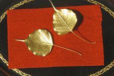 Free Myanmar, Mandalay: Handicraft, Golden Leaves Royalty Free Stock Photography - 4939697