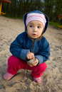 Free Child Playing In Sand Stock Photo - 4941570