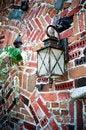 Free Brick Wall Lamp Stock Photography - 4942462