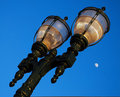 Free Antique Lampost At Dusk Royalty Free Stock Photos - 4944658
