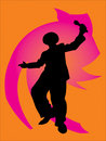 Free Silhouettes Of  Dancers Royalty Free Stock Photos - 4947138