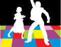 Free Silhouettes Of  Dancers Stock Photo - 4947140
