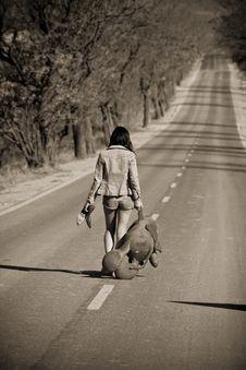 Free Abandoned Girl Stock Photo - 4941280