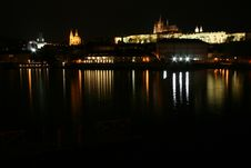 Free Night Scene Of Prague Castle Royalty Free Stock Images - 4941699