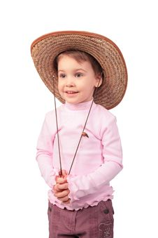 Free Little Girl With Hat Royalty Free Stock Photo - 4941715