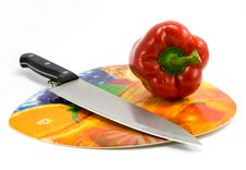 Free Pepper And Knife Royalty Free Stock Photo - 4941765