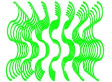 Free Green Wavy Lines Stock Image - 4942311