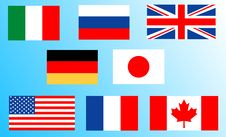 Free Flags Of The Big Eight Stock Photo - 4942350