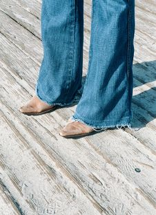 Free Cowboy Boots On The Boardwalk Stock Photos - 4942413