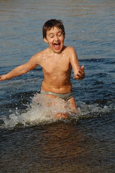 Fun In Water Royalty Free Stock Images