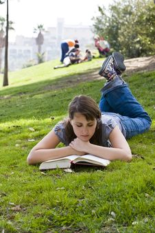 Free Young Woman Reading A Book Stock Photography - 4942682