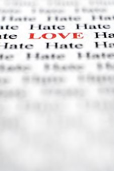 Free Love & Hate Royalty Free Stock Photos - 4942808
