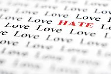 Free Love & Hate Stock Photos - 4942853