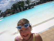 Free Funny Girl On The Pool Royalty Free Stock Photos - 4943018