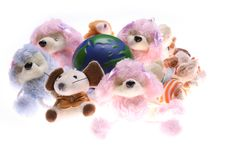 Free Earth Model And Rag Doll Royalty Free Stock Photo - 4943655
