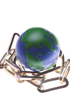 Free Earth And Chain Stock Photography - 4943702