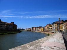 Free The Riverwalk In Pisa Italy Stock Image - 4944301