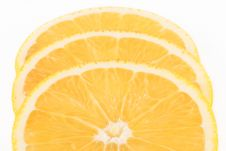 Free Three Slices Of Orange Stock Photos - 4944393