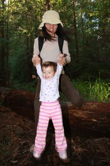 Free Baby Girl First Steps In The Forest Royalty Free Stock Photo - 4944895