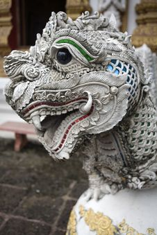 Dragon Figure With Lion S Head Royalty Free Stock Photos