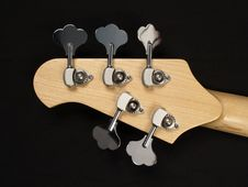 Free Bass Guitar Headstock Back Stock Photography - 4945762
