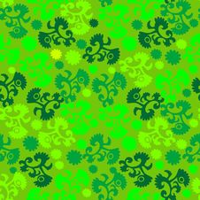 Free Seamless Green Floral Pattern Stock Image - 4946241