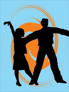 Free Silhouettes Of  Dancers Royalty Free Stock Photography - 4947167