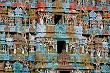 Free Closeup Details Of Hindu Temple Tower Royalty Free Stock Photo - 4948365