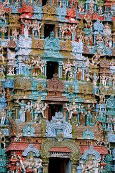 Free Closeup Details Of Hindu Temple Tower Stock Photos - 4948393